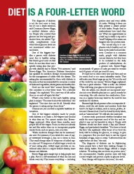 A page from Be Healthy magazine supplement, Bay State Banner, 2014