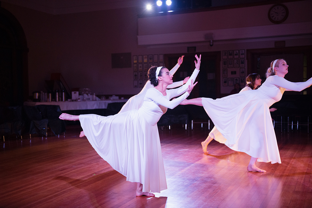 Erin performs with Forty Steps Dance
